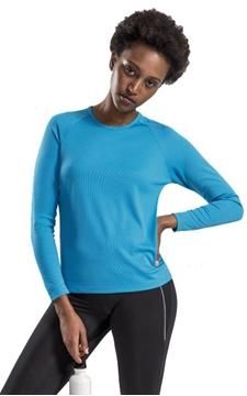 Ρουχα Εργασιας, φορμες εργασιας, στολες  της Γυναικείο μακρυμάνικο αθλητικό t-shirt (ΚΩΔ:02072)