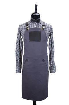 Ρουχα Εργασιας, φορμες εργασιας, στολες  της Custom made ποδιά στήθους χιαστή με κρίκο (ΚΩΔ.:1PSA024)