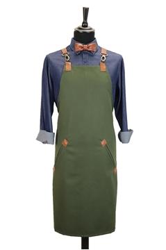 Ρουχα Εργασιας, φορμες εργασιας, στολες  της Custom made ποδιά στήθους χιαστή με κρίκο (ΚΩΔ.:1PSA026)