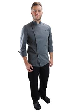 Ρουχα Εργασιας, φορμες εργασιας, στολες  της Σακάκι μάγειρα με κόπιτσες (ΚΩΔ: 1S1135G)
