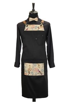 Ρουχα Εργασιας, φορμες εργασιας, στολες  της Custom made ποδιά στήθους χιαστή με κρίκο (ΚΩΔ.:1PSA031)