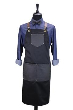 Ρουχα Εργασιας, φορμες εργασιας, στολες  της Custom made ποδιά στήθους χιαστή με κρίκο (ΚΩΔ.:1PSA035)