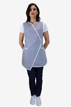 Ρουχα Εργασιας, φορμες εργασιας, στολες  της Μπλούζα γυναικεία αμάνικη δετή (ΚΩΔ: 1B1245)