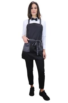 Ρουχα Εργασιας, φορμες εργασιας, στολες  της Ποδιά στήθους γυναικεία χιαστή με διχρωμία (ΚΩΔ.:1PSG012)