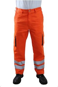Ρουχα Εργασιας, φορμες εργασιας, στολες  της Παντελόνι εργάσιας με αντ/κες ταινίες & πλαινές τσέπες(ΚΩΔ.:MEX005B)
