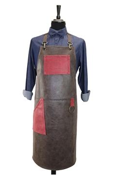 Ρουχα Εργασιας, φορμες εργασιας, στολες  της Ποδιά στήθους δερμάτινη  (ΚΩΔ:1PSA046)