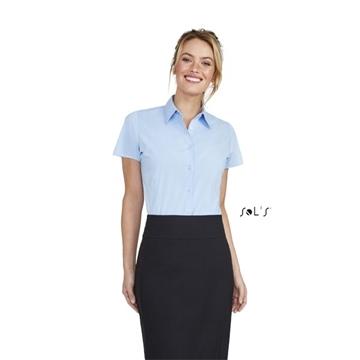 Ρουχα Εργασιας, φορμες εργασιας, στολες  της Πουκάμισο γυναικείο κοντό μανίκι Stretch (ΚΩΔ: 17020)