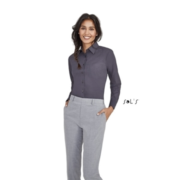 Ρουχα Εργασιας, φορμες εργασιας, στολες  της Πουκάμισο γυναικείο μακρύ μανίκι από ύφασμα ποπλίνα (ΚΩΔ: 16060)