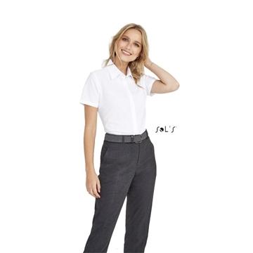 Ρουχα Εργασιας, φορμες εργασιας, στολες  της Γυναικείο κοντομάνικο πουκάμισο Oxford (ΚΩΔ;16030)