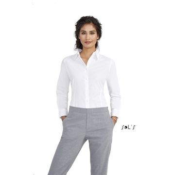 Ρουχα Εργασιας, φορμες εργασιας, στολες  της Πουκάμισο γυναικείο μακρύ μανίκι Stretch (ΚΩΔ: 17015)