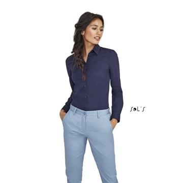 Ρουχα Εργασιας, φορμες εργασιας, στολες  της Γυναικείο μακρυμάνικο ελαστικό πουκάμισο (ΚΩΔ:01427)