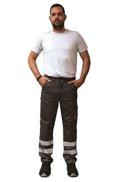 Ρουχα Εργασιας, φορμες εργασιας, στολες  της Παντελόνι εργασίας με ανακλαστικές ταινίες  (ΚΩΔ: 5221-120)