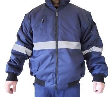 Ρουχα Εργασιας, φορμες εργασιας, στολες  της Τζάκετ ψύχους με ανακλαστικές ταινίες (ΚΩΔ: 5301-350)