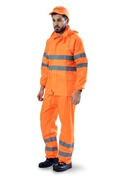 Ρουχα Εργασιας, φορμες εργασιας, στολες  της Κουστούμι αδιάβροχο πορτοκαλί (ΚΩΔ: 5001-090)