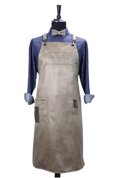 Ρουχα Εργασιας, φορμες εργασιας, στολες  της Custom made ποδιά από ελαφριά δερματίνη χιαστή με κρίκο (ΚΩΔ.:1PSA052)