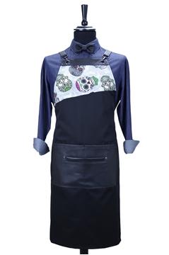 Ρουχα Εργασιας, φορμες εργασιας, στολες  της Custom made ποδιά στήθους με δέρμα(ΚΩΔ.:1PSA055)