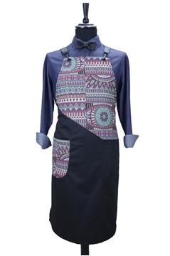 Ρουχα Εργασιας, φορμες εργασιας, στολες  της Custom made ποδιά στήθους με δέρμα (ΚΩΔ.:1PSA056)