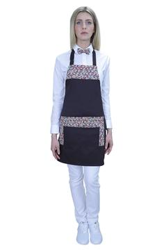 Ρουχα Εργασιας, φορμες εργασιας, στολες  της Ποδιά στήθους γυναικεία με ύφασμα πολύχρωμο print (ΚΩΔ.:1PSG020BR)