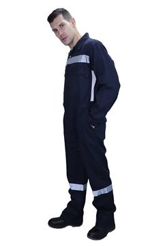 Ρουχα Εργασιας, φορμες εργασιας, στολες  της Φόρμα ολόσωμη βαμβακερή με ανακλαστικές ταινίες (ΚΩΔ.: ST003)