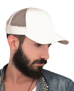 Ρουχα Εργασιας, φορμες εργασιας, στολες  της Πεντάπλευρο καπέλο τζόκεϋ RAPPER DESTROYED (ΚΩΔ: 0190215)