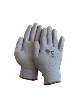 Ρουχα Εργασιας, φορμες εργασιας, στολες  της Γάντια λεπτά PU γκρι  Συσκευασία των 10 τεμ. (ΚΩΔ: 8150-210)