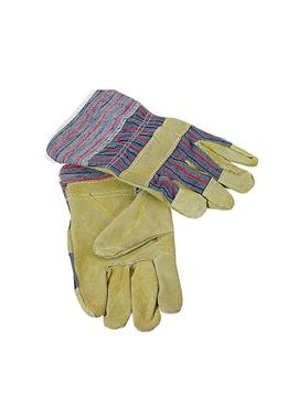 Ρουχα Εργασιας, φορμες εργασιας, στολες  της Γάντια δερματοπάνινα Συσκευασία των 10 τεμ. (ΚΩΔ: 8602-051)