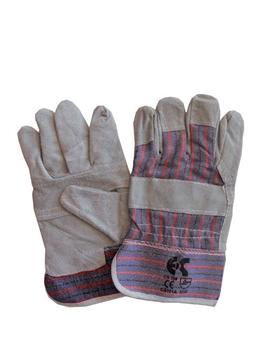 Ρουχα Εργασιας, φορμες εργασιας, στολες  της Γάντια δερματοπάνινα  Συσκευασια των 10 τεμ. (ΚΩΔ: 8605-031)