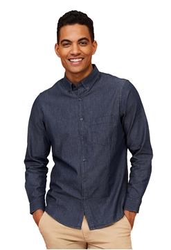 Ρουχα Εργασιας, φορμες εργασιας, στολες  της Ανδρικό πουκάμισο τζιν Denim (ΚΩΔ: 02100)