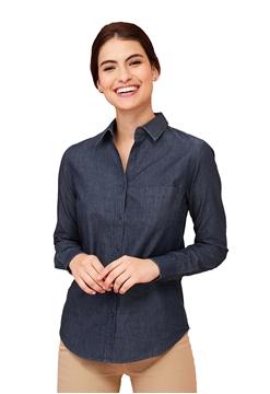 Ρουχα Εργασιας, φορμες εργασιας, στολες  της Γυναικείο πουκάμισο τζιν Denim (ΚΩΔ: 02101)