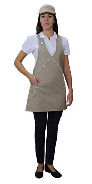 Ρουχα Εργασιας, φορμες εργασιας, στολες  της Ποδιά γυναικεία με διχρωμία (ΚΩΔ:1A112)