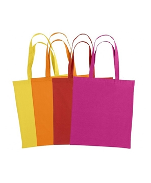 Ρουχα Εργασιας, φορμες εργασιας, στολες  της Χρωματιστή τσάντα αγοράς βαμβακερή με μακριά χερούλια (ΚΩΔ:CANCUN)