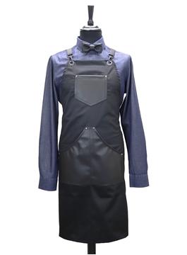 Ρουχα Εργασιας, φορμες εργασιας, στολες  της Custom made ποδιά στήθους με δέρμα(ΚΩΔ.:1PSA058)