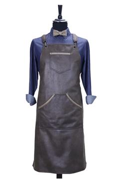 Ρουχα Εργασιας, φορμες εργασιας, στολες  της Custom made ποδιά από ελαφριά δερματίνη χιαστή με κρίκο (ΚΩΔ.:1PSA049)