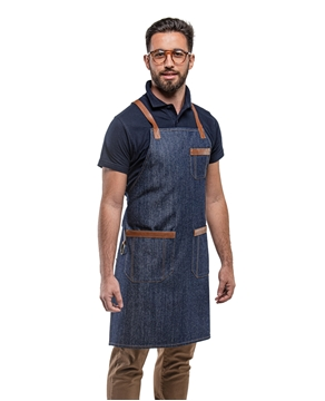 Ρουχα Εργασιας, φορμες εργασιας, στολες  της Ποδιά λαιμού Τζιν με χιαστί λουριά - ESPRESSO (ΚΩΔ: 50-332-1)