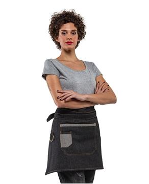 Ρουχα Εργασιας, φορμες εργασιας, στολες  της Ποδιά μέσης Τζιν μαύρη - INDIE(ΚΩΔ: 50-332-9)