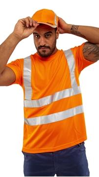 Ρουχα Εργασιας, φορμες εργασιας, στολες  της Μακό υψηλής ευκρίνειας κοντομάνικο LIVERPOOL HI VIS (ΚΩΔ: 46-10-31-1)