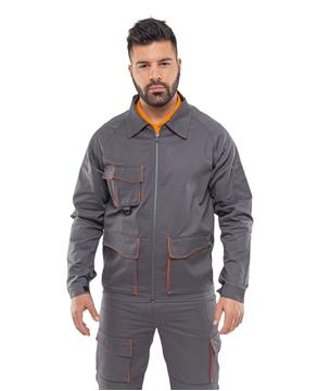 Ρουχα Εργασιας, φορμες εργασιας, στολες  της Σακάκι εργασίας με δίχρωμες λεπτομέρειες (ΚΩΔ: 50-501-2)
