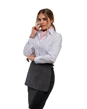 Ρουχα Εργασιας, φορμες εργασιας, στολες  της Ποδιά μέσης ριγέ με τριπλή τσέπη - CORAL(ΚΩΔ: 50-331-5)
