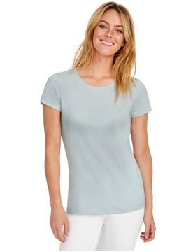 Ρουχα Εργασιας, φορμες εργασιας, στολες  της Γυναικείο T-shirt 155γρ, επεξεργασία με ένζυμα για απαλότητα (ΚΩΔ: 02856)