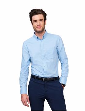 Ρουχα Εργασιας, φορμες εργασιας, στολες  της Ανδρικό μακρυμάνικο πουκάμισο 100% βαμβάκι (ΚΩΔ: 00551)