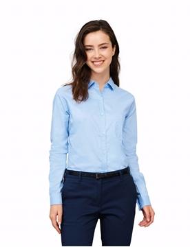 Ρουχα Εργασιας, φορμες εργασιας, στολες  της Γυναικείο μακρυμάνικο πουκάμισο 100% βαμβάκι (ΚΩΔ: 00554)