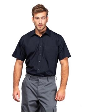 Ρουχα Εργασιας, φορμες εργασιας, στολες  της Ανδρικό κοντομάνικο πουκάμισο από ύφασμα ποπλίνα (ΚΩΔ: 0591386)