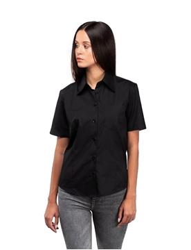 Ρουχα Εργασιας, φορμες εργασιας, στολες  της Γυναικείο κοντομάνικο πουκάμισο από ύφασμα ποπλίνα (ΚΩΔ: 0591385)