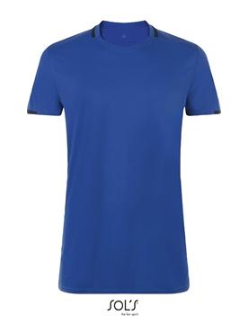 """Ρουχα Εργασιας, φορμες εργασιας, στολες  της Αθλητική μπλούζα 150 γρ με λαιμόκοψη """"V"""" σε χρωματική αντίθεση (ΚΩΔ: 01717)"""