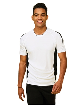 Ρουχα Εργασιας, φορμες εργασιας, στολες  της Unisex κοντομάνικη μπλούζα 140 γρ σε χρωματική αντίθεση (ΚΩΔ: 01638)