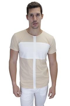 Ρουχα Εργασιας, φορμες εργασιας, στολες  της Ανδρικό δίχρωμο t-shirt (ΚΩΔ: NEW004)