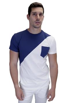 Ρουχα Εργασιας, φορμες εργασιας, στολες  της Ανδρικό t-shirt με oblique σχέδιο (ΚΩΔ: NEW005)