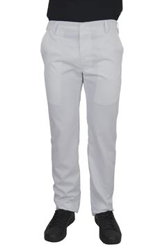 Ρουχα Εργασιας, φορμες εργασιας, στολες  της Παντελόνι λευκό με κουμπί και λάστιχο (ΚΩΔ: 1T106B)
