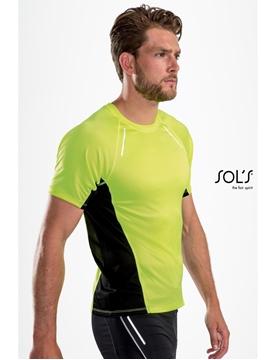 Ρουχα Εργασιας, φορμες εργασιας, στολες  της Ανδρικό κοντομάνικο t-shirt για τρέξιμο (ΚΩΔ: 01414)