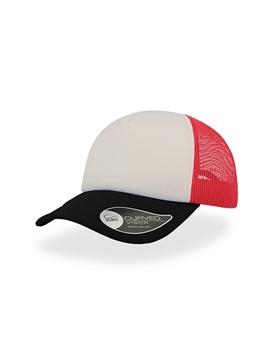 Ρουχα Εργασιας, φορμες εργασιας, στολες  της Πεντάφυλλο καπέλο τζόκει με δίχτυ RAPPER (ΚΩΔ: 0190183)